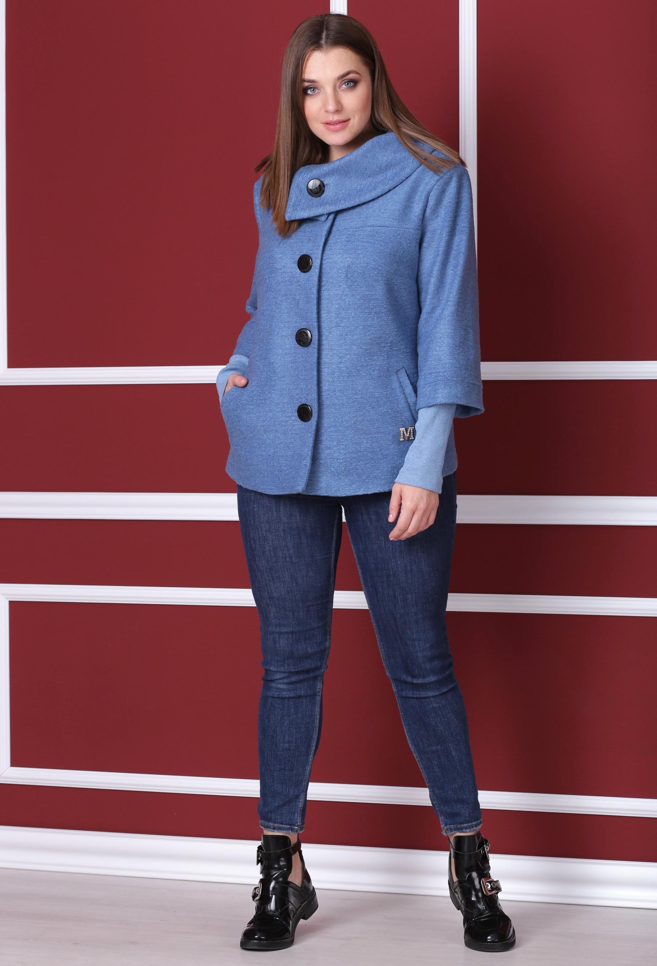 Пальто Michel Chic 348 голубой