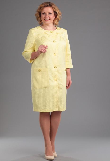 Пальто Anastasia Mak 361 желтый