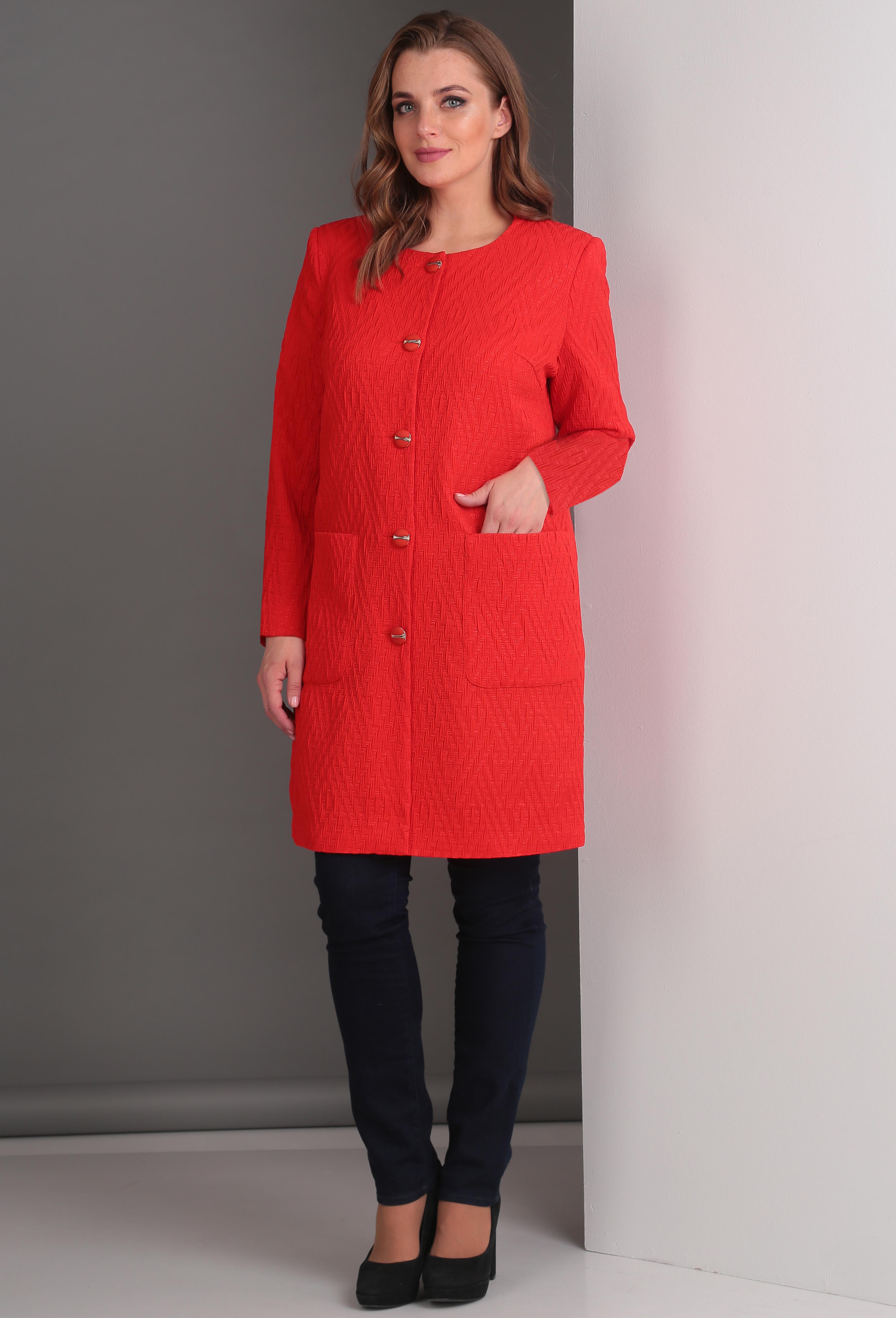 Пальто Anastasia Mak 361A красный