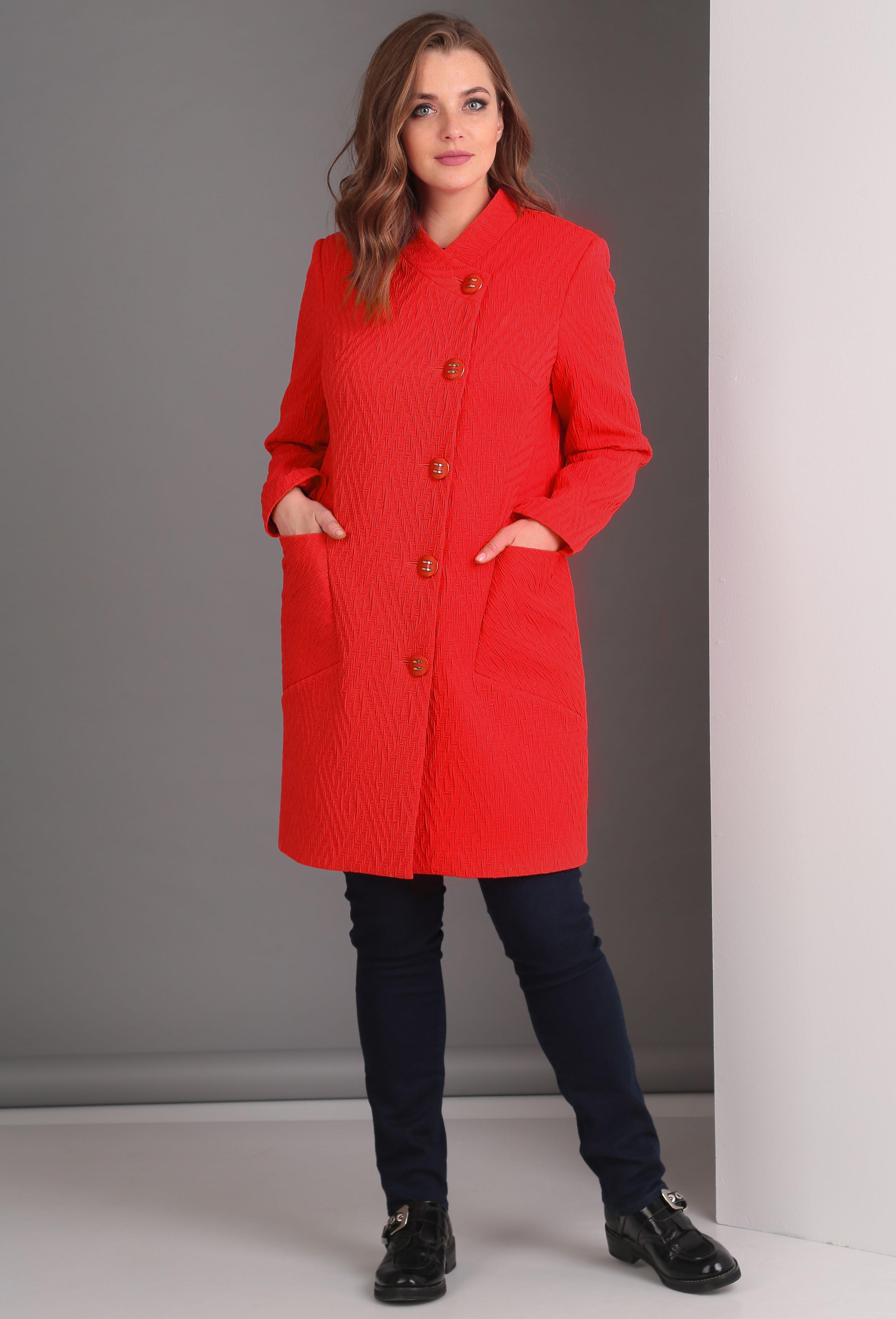 Пальто Anastasia Mak 529 красный