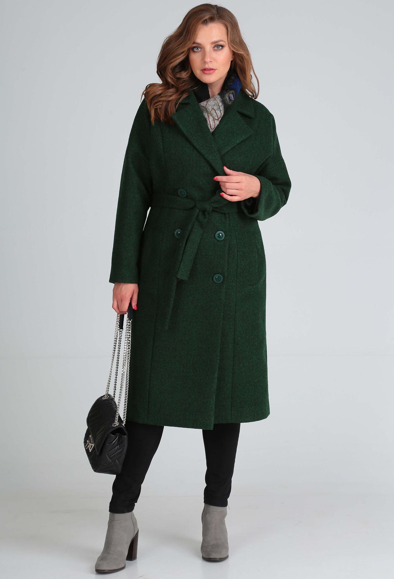 Пальто Anastasia Mak 638 зеленый