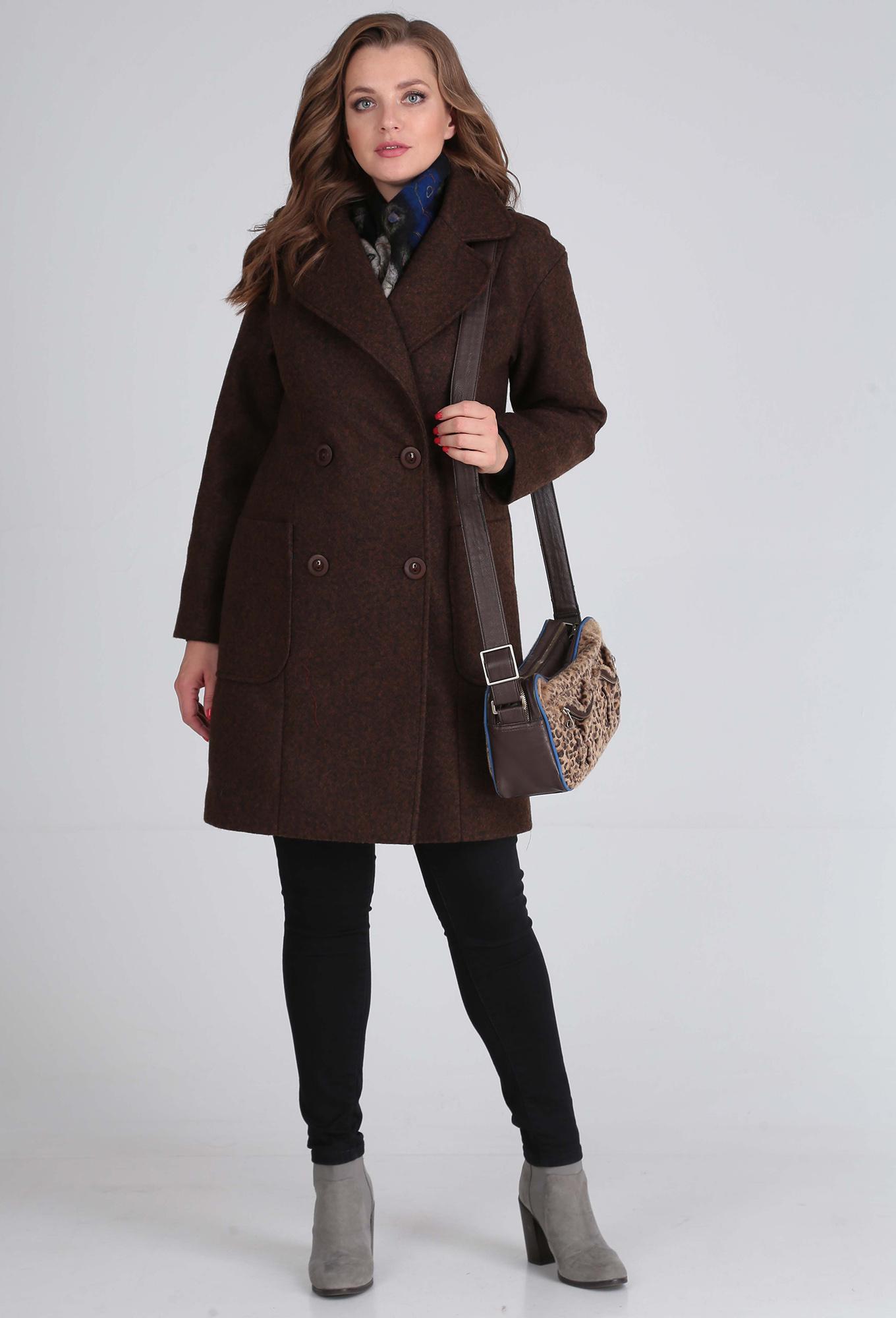 Пальто Anastasia Mak 651 коричневый