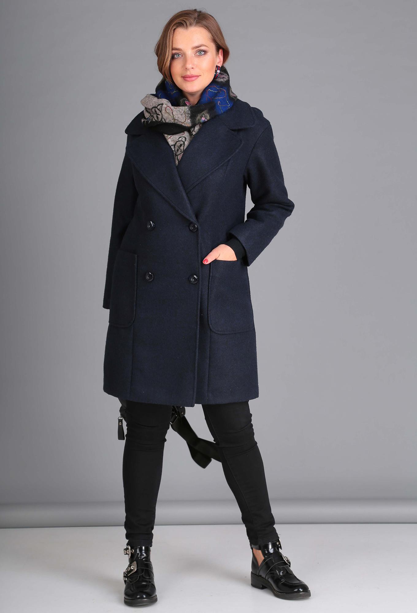 Пальто Anastasia Mak 651 синий