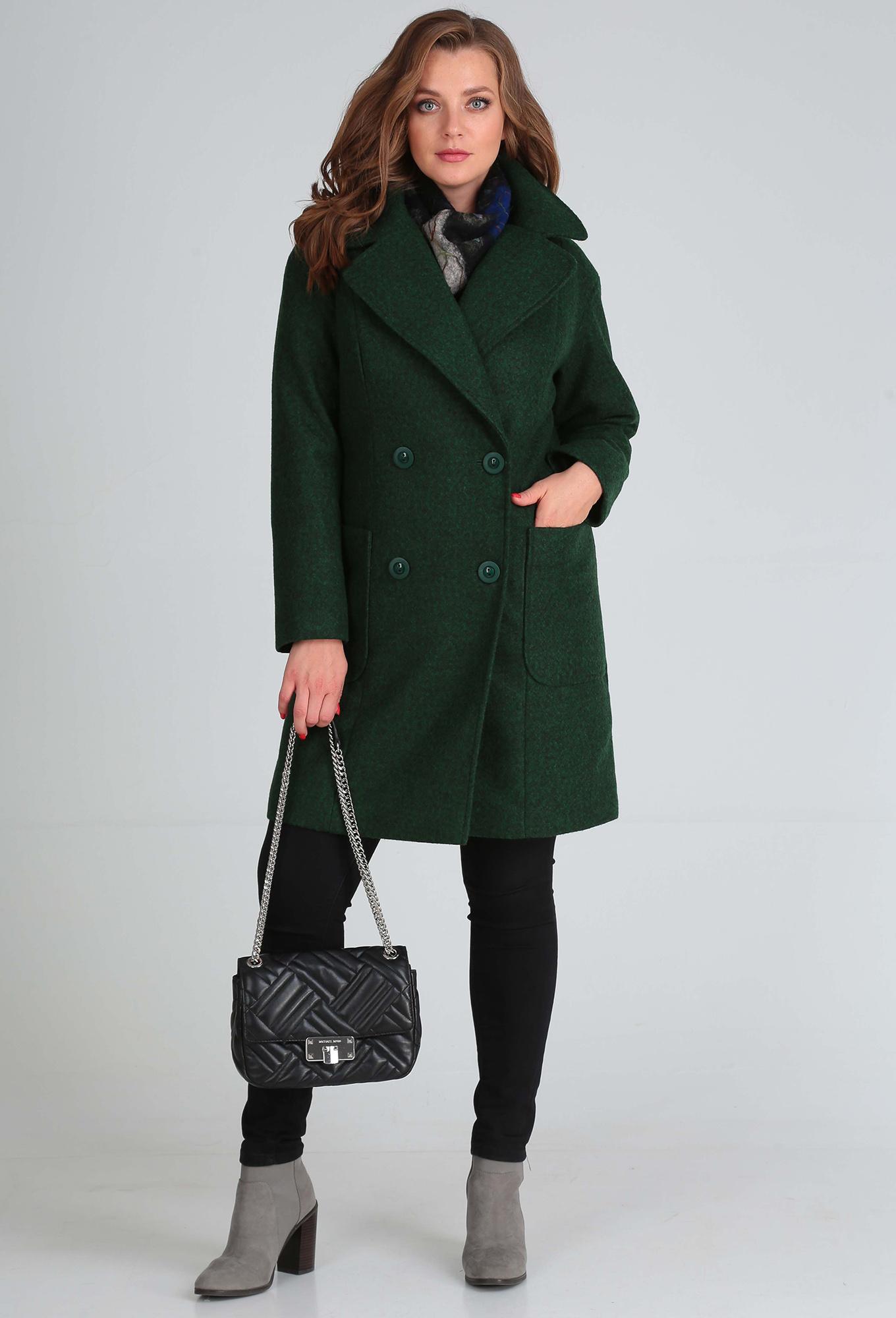 Пальто Anastasia Mak 651 зеленый