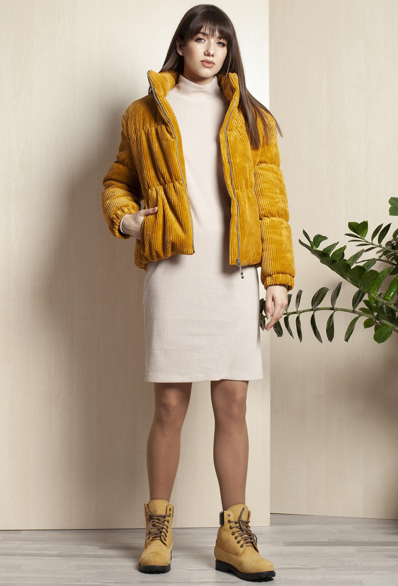 Куртка Elletto 3394 горчица